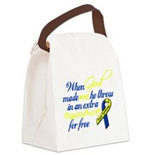 free chromosome white.png Canvas Lunch Bag