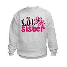 lil sister pink zebra Sweatshirt