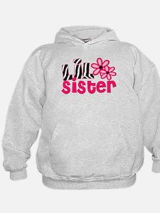 lil sister pink zebra Hoodie