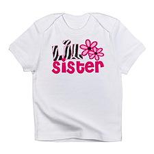 lil sister pink zebra Infant T-Shirt