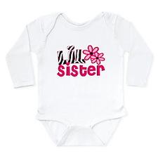 lil sister pink zebra Body Suit