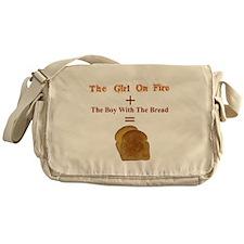 Toast, The Girl on Fire Messenger Bag
