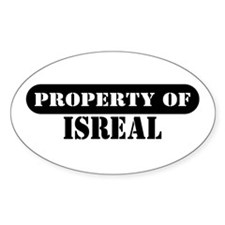 Property of Isreal Oval Decal