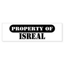 Property of Isreal Bumper Bumper Sticker