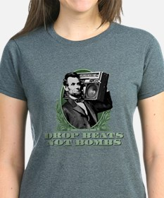 Drop Beats Not Bombs Abe Lincoln Quote Tee