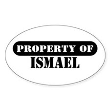 Property of Ismael Oval Decal