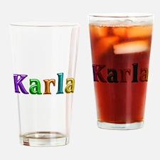 Karla Shiny Colors Drinking Glass