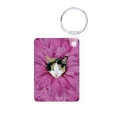 Calico Cat Flowers Keychains