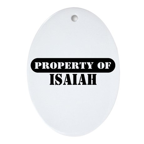 Property of Isaiah Oval Ornament