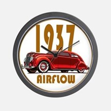 1937 Airflow-C10trans.png Wall Clock