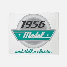 1956 Birthday Vintage Chrome Throw Blanket