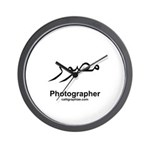 Photographer Arabic Calligraphy Wall Clock