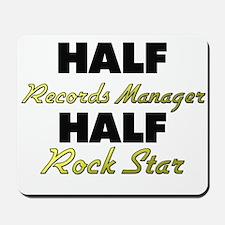 Half Records Manager Half Rock Star Mousepad