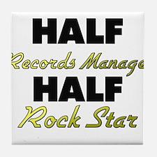 Half Records Manager Half Rock Star Tile Coaster