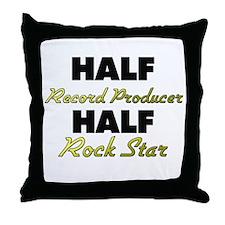Half Record Producer Half Rock Star Throw Pillow