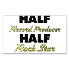 Half Record Producer Half Rock Star Decal