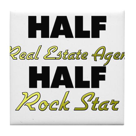 Half Real Estate Agent Half Rock Star Tile Coaster