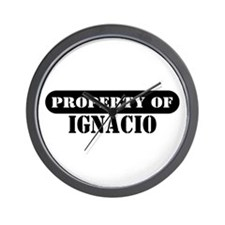 Property of Ignacio Wall Clock