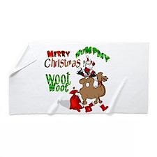Merry Hump Day Christmas Beach Towel