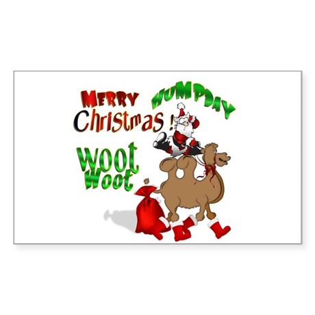 Merry Hump Day Christmas Sticker (Rectangle)