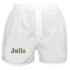 Julia Shiny Colors Boxer Shorts