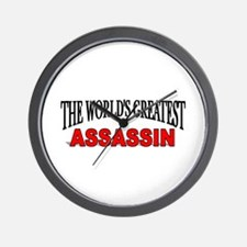 """The World's Greatest Assassin"" Wall Clock"