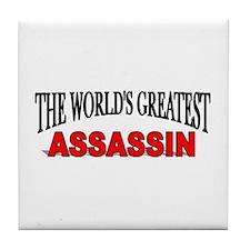 """The World's Greatest Assassin"" Tile Coaster"