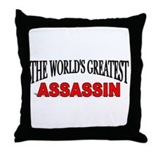 """The World's Greatest Assassin"" Throw Pillow"