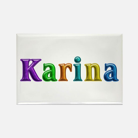 Karina Shiny Colors Rectangle Magnet