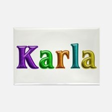 Karla Shiny Colors Rectangle Magnet