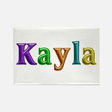 Kayla Shiny Colors Rectangle Magnet