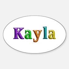 Kayla Shiny Colors Oval Decal