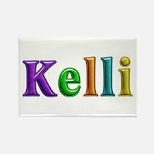 Kelli Shiny Colors Rectangle Magnet