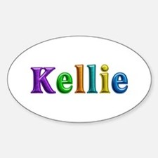 Kellie Shiny Colors Oval Decal