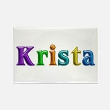 Krista Shiny Colors Rectangle Magnet