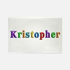 Kristopher Shiny Colors Rectangle Magnet