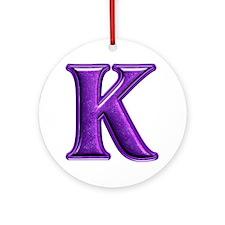 K Shiny Colors Round Ornament