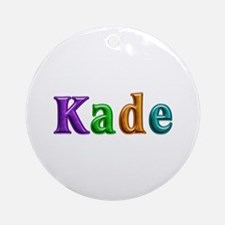 Kade Shiny Colors Round Ornament