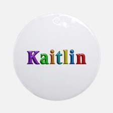 Kaitlin Shiny Colors Round Ornament