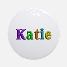 Katie Shiny Colors Round Ornament