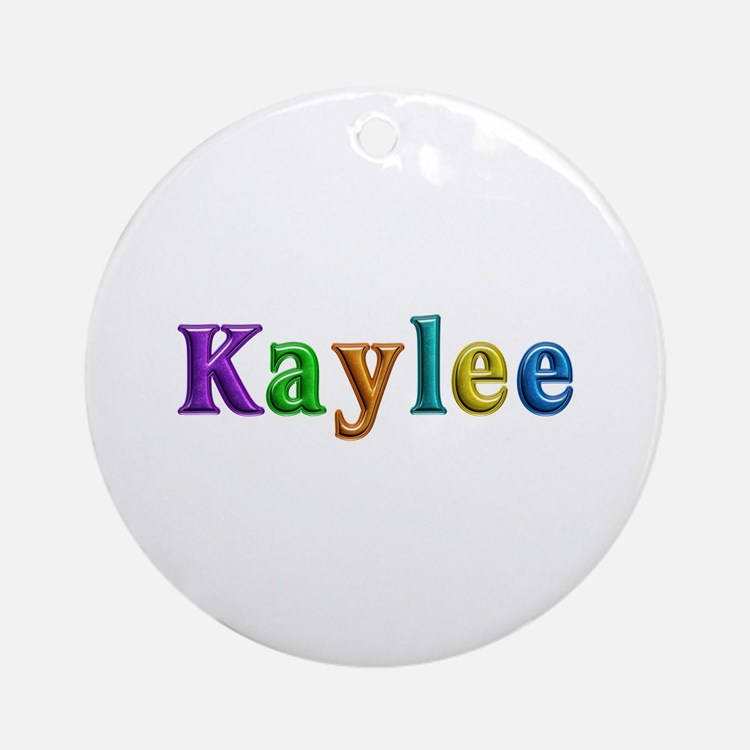 Kaylee Shiny Colors Round Ornament
