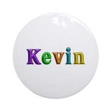 Kevin Shiny Colors Round Ornament