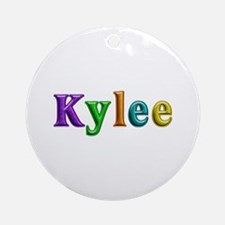 Kylee Shiny Colors Round Ornament