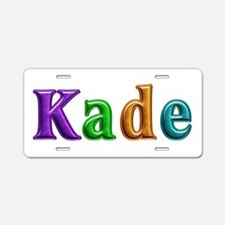 Kade Shiny Colors Aluminum License Plate
