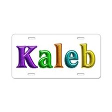 Kaleb Shiny Colors Aluminum License Plate