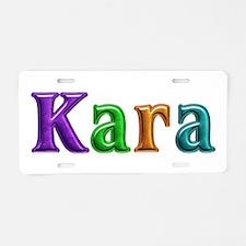 Kara Shiny Colors Aluminum License Plate