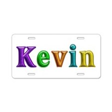 Kevin Shiny Colors Aluminum License Plate