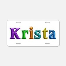Krista Shiny Colors Aluminum License Plate