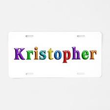 Kristopher Shiny Colors Aluminum License Plate