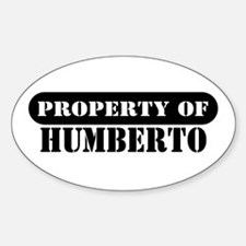 Property of Humberto Oval Decal